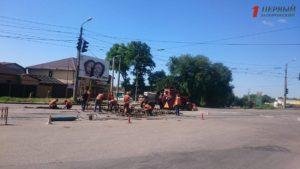 В Запорожье временно заблокировано движение одного из трамвайных маршрутов - ФОТО