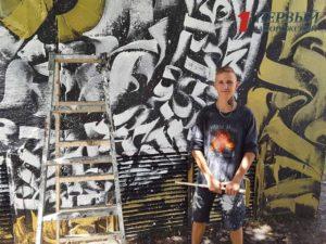 В Запорожье студент с помощью обычной краски превратил трансформаторную будку в арт-объект