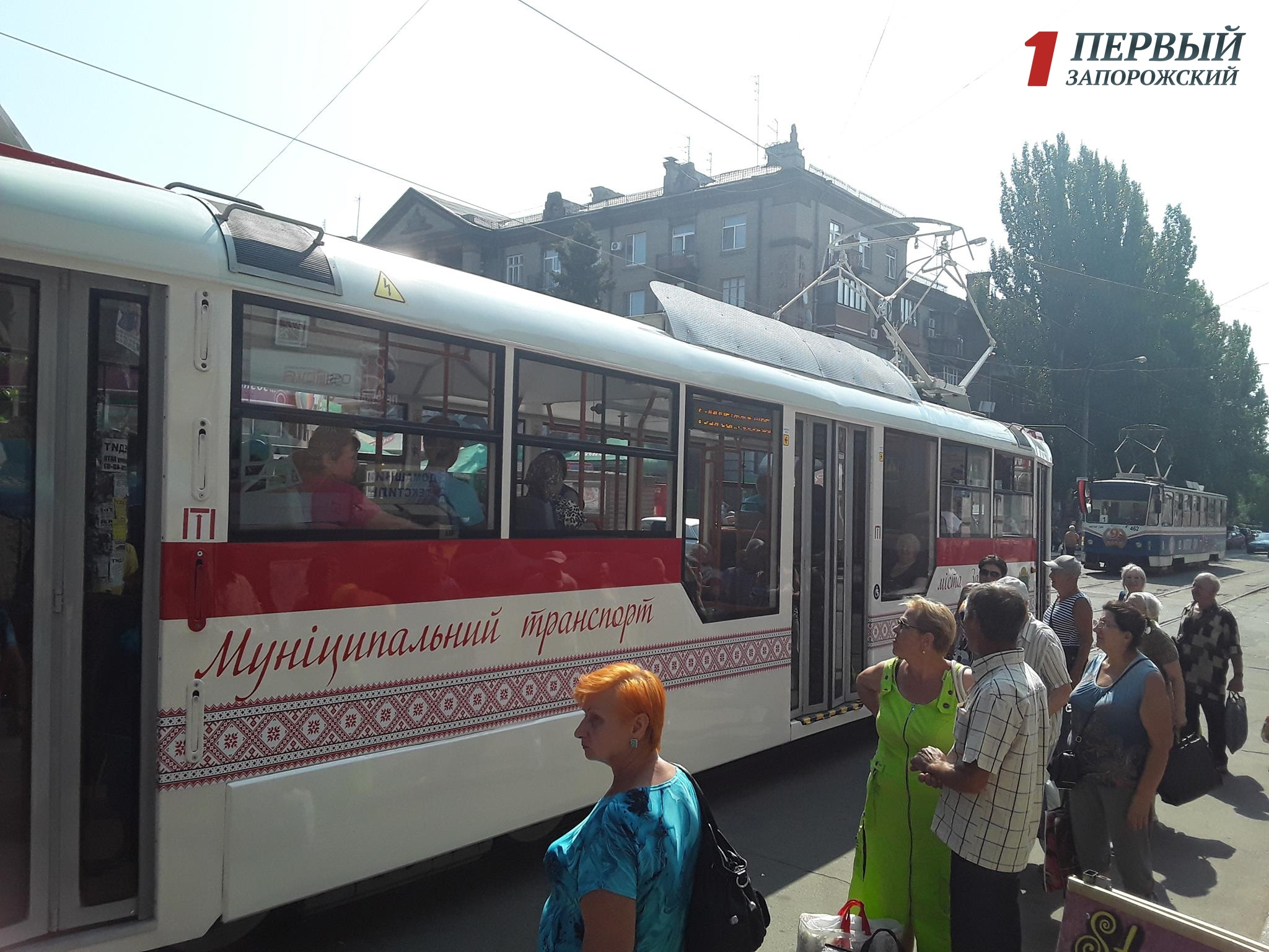 1-ый трамвай запорожской сборки вышел намаршрут