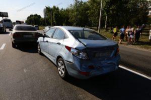 В Запорожье на Набережной столкнулись три автомобиля – ФОТО