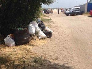 На запорожском курорте устранили очередную свалку мусора - ФОТО