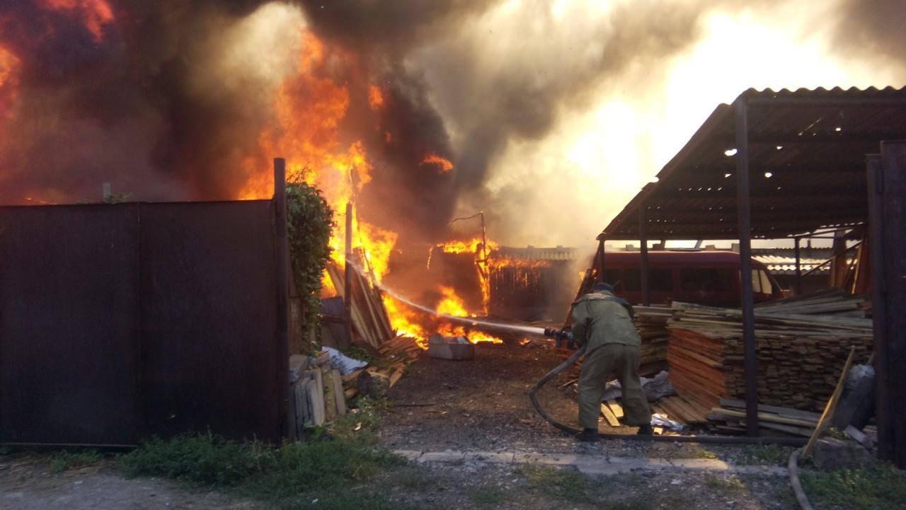ВЗапорожье устранили пожар натерритории учреждения
