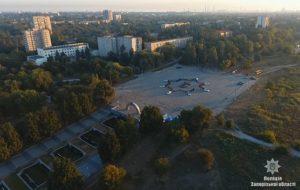 Запорожские полицейские в честь праздника создали живую эмблему Нацполиции - ФОТО, ВИДЕО