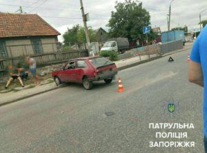 В Запорожье в стельку пьяный водитель попал в ДТП - ФОТО
