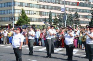 В Запорожье военный духовой оркестр на День Независимости исполнил песню