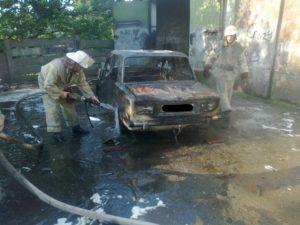 В Запорожской области дотла сгорела легковушка  — ФОТО