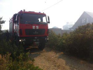 В Запорожской области огнеборцы уберегли жилые здания от пожара - ФОТО