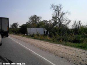 На запорожской трассе столкнулись грузовик и пикап - ФОТО