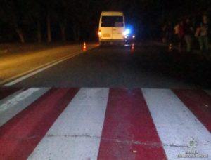 Появились фото с места смертельного ДТП в Запорожье: маршрутка насмерть сбила пешехода - ФОТО