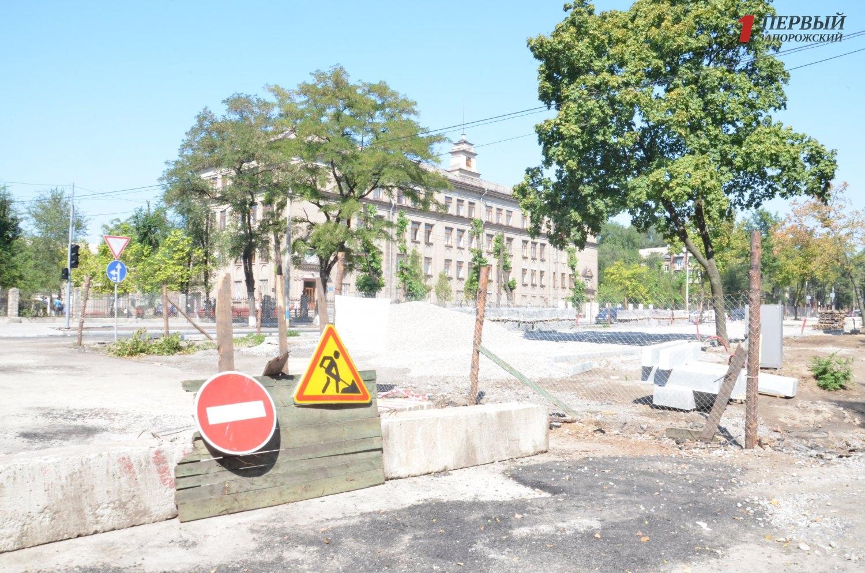 В Запорожье снова откладываются сроки завершения ремонтных работ на проспекте Маяковского - ФОТО