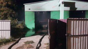 В Запорожской области на СТО дотла сгорел автомобиль - ФОТО, ВИДЕО