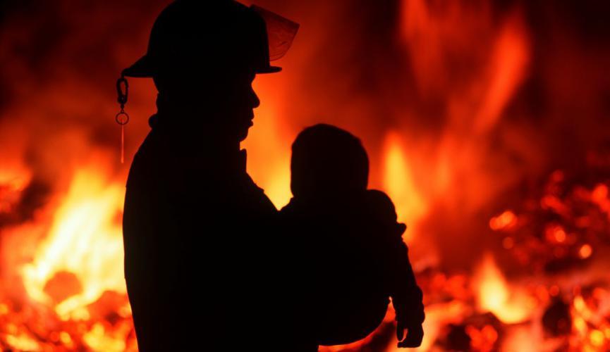 ВЗапорожье вовремя пожара едва не умер 9-летний ребенок