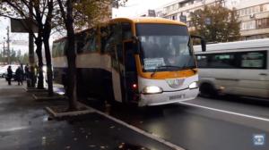 В Запорожье пассажирский автобус влетел в иномарку - ВИДЕО