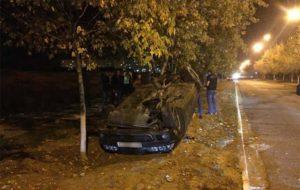 В Запорожской области автомобиль  BMW перевернулся и вылетел на обочину - ФОТО
