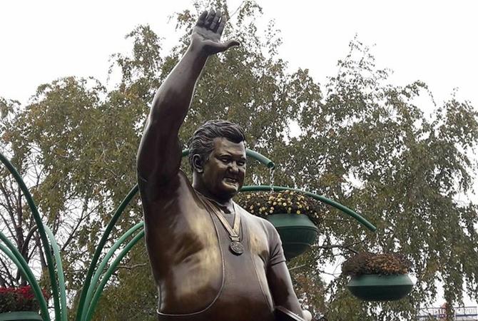 В Запорожье открыли памятник легендарному тяжелоатлету Леониду Жаботинскому - ФОТО, ВИДЕО