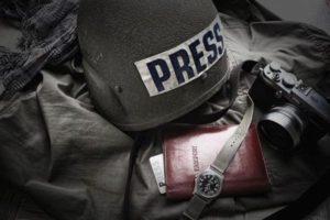Запорожские журналисты попали под обстрел во время работы в зоне АТО, - ФОТО