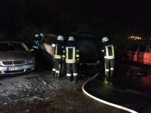 В центре Запорожья порезали мужчину и сожгли его автомобиль - ФОТО