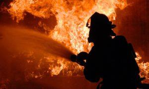 В Запорожье горело бытовое помещение магазина