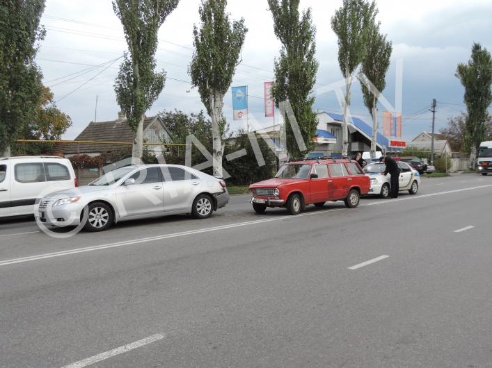ВЗапорожской области фургон  протаранил «Daewoo Sens»: шофёр  в клинике ,