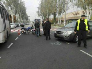 В Запорожье за сутки произошло три ДТП с участием мотоциклистов: есть пострадавшие - ФОТО