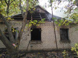 В Запорожской области сгорел жилой дом - ФОТО