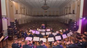 Оркестр военно-воздушных сил США исполнил в Запорожье гимн Украины - ФОТО