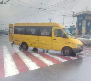 В Запорожье около ж/д вокзала маршрутка сбила пешехода - ФОТО