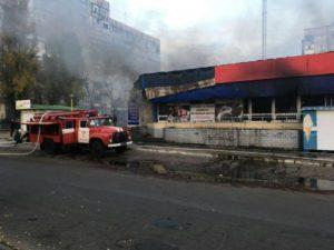 В Запорожской области в торговом центре сгорел магазин - ФОТО