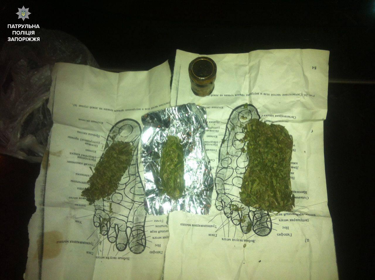 В Запорожье молодой человек пустился в бега, чтобы спрятать от патрульных марихуану - ФОТО