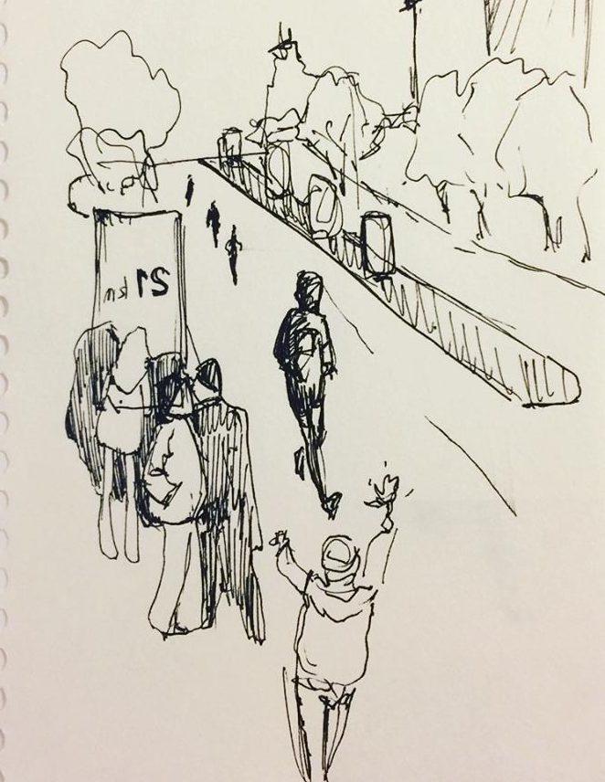 Запорожская художница подготовила серию иллюстраций об участниках полумарафона  – ФОТО