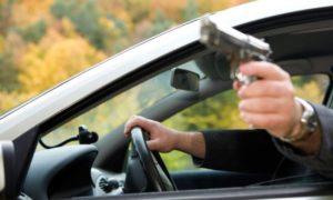 В Запорожье мужчина устроил стрельбу из авто - ФОТО