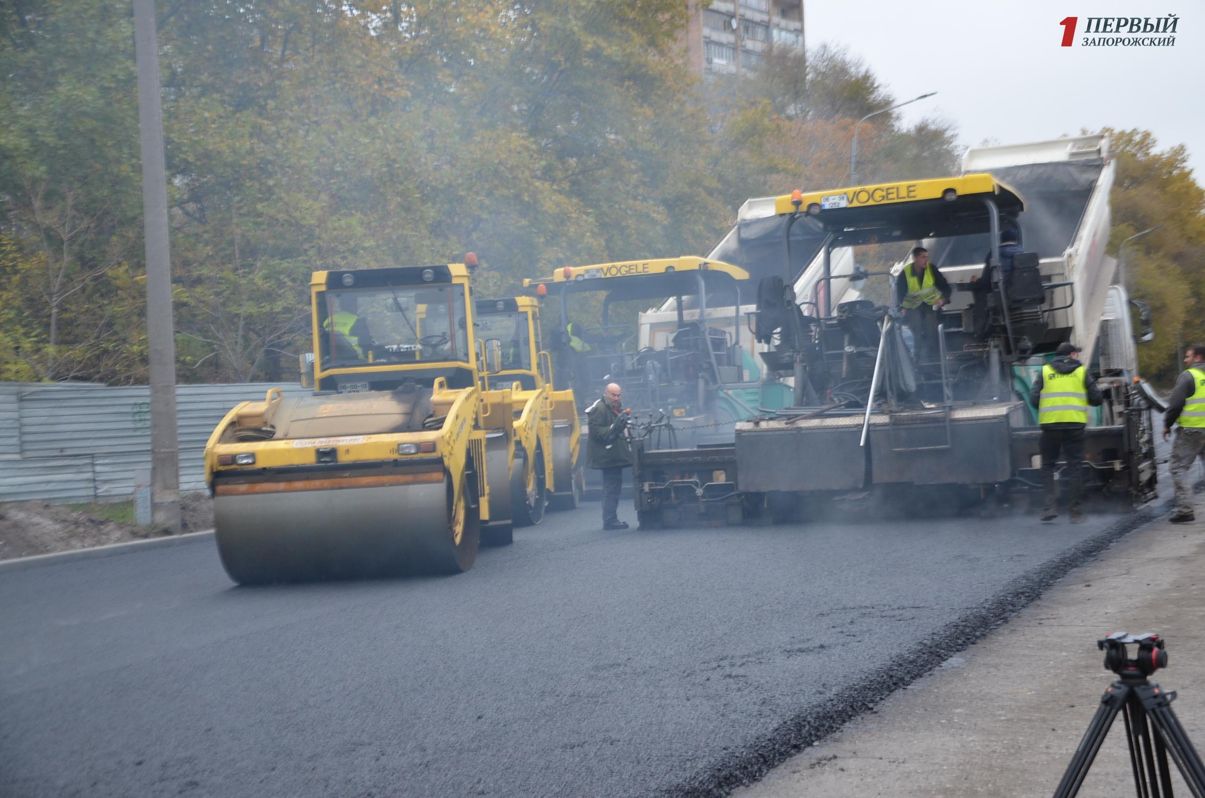 ремонт дороги на Набережной магистрали