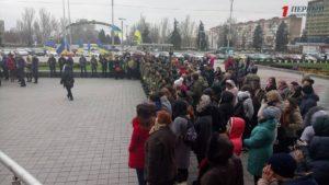 В Запорожье проходит митинг в честь годовщины Революции Достоинства - ФОТО, ВИДЕО