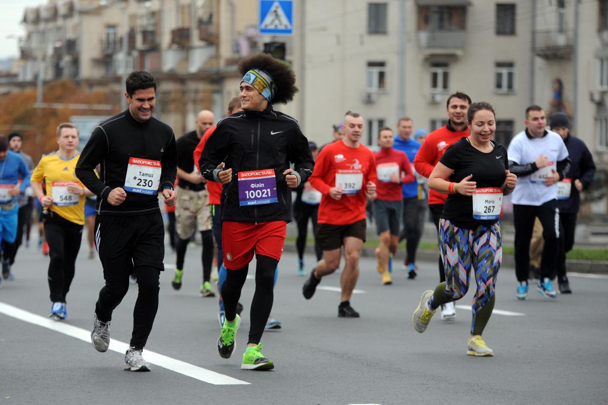 Первый полумарафон в Запорожье собрал 1500 участников из 9 стран мира
