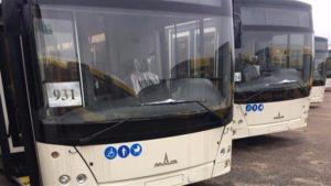 На этой неделе в Запорожье выйдут на линию новые автобусы из Белоруссии