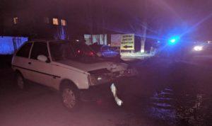 В Запорожской области автомобиль сбил пешехода, после чего врезался в столб - ФОТО