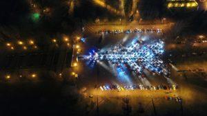 В Запорожье побили рекорд Украины, создав самую большую елку из автомобилей – ФОТО, ВИДЕО