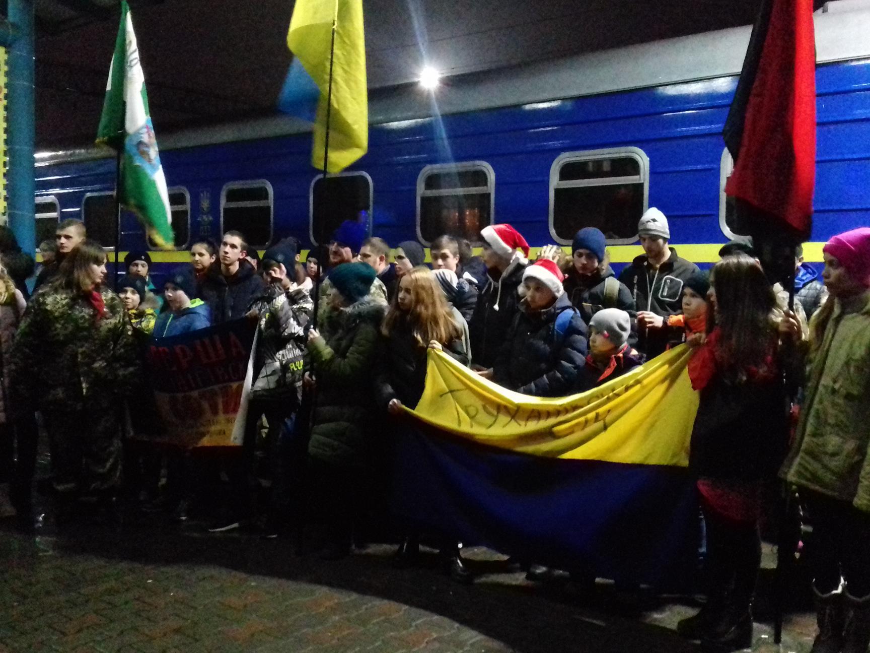 Запорожье посетил поезд Святого Николая - ФОТО