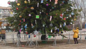 В Запорожье нарядили главную елку города – ФОТО