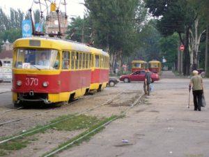 В Запорожье трамвай попал в ДТП с «Газелью»