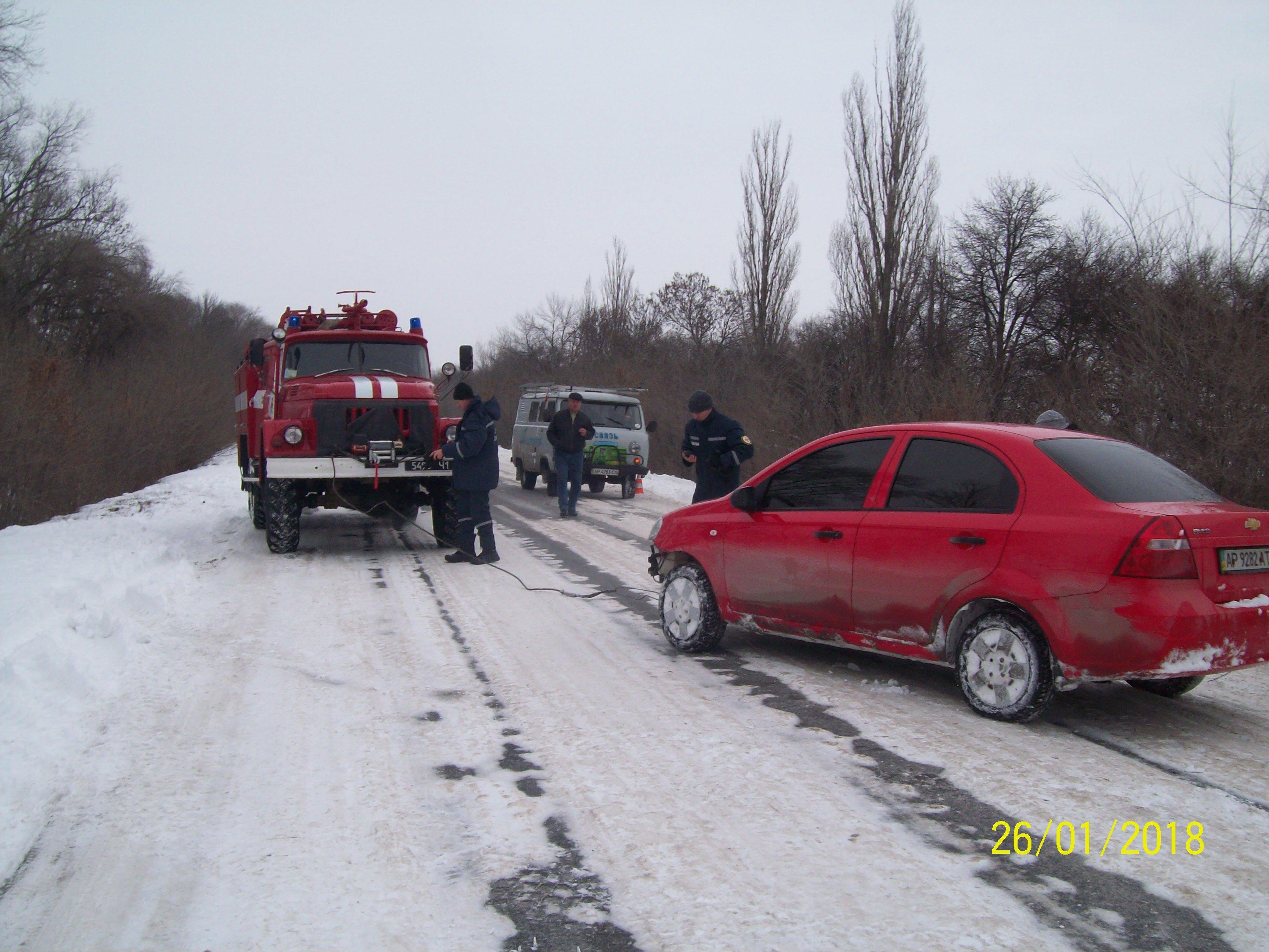 ВЗапорожской иДнепропетровской областях снежные заносы парализовали движение