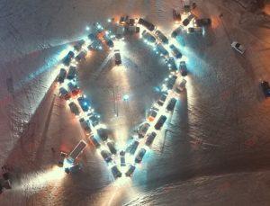 В Запорожской области автолюбители устроили уникальный флешмоб - ФОТО