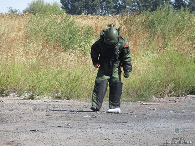 Запорожские взрывотехники уничтожили более двух тысяч боеприпасов - ФОТО