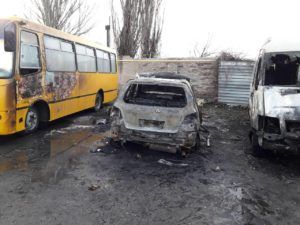 В Запорожской области за ночь сгорели четыре автомобиля - ФОТО