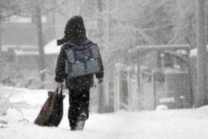 Из-за непогоды в запорожских школах приостановили занятия