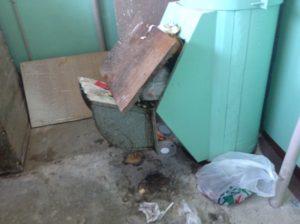 В запорожском общежитии тушили пожар