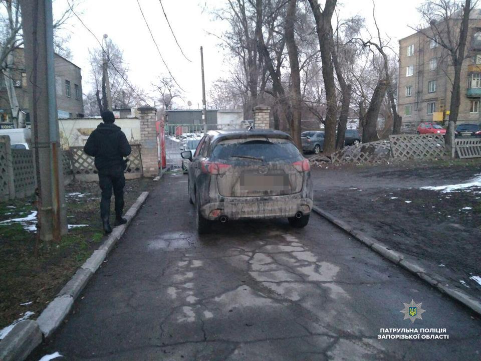 В Запорожье эвакуировали авто