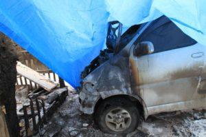 В Запорожской области загорелся грузовой микроавтобус Mercedes-Benz