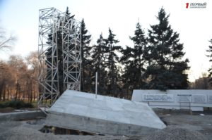В Запорожье возобновили строительство памятника чернобыльцам - ФОТО