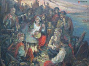 Запорожский художник подарил музею удивительную картину - ФОТО